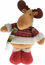 Gazechimp Dekofigur Weihnachten Dekoration Haus Dekor - Elch