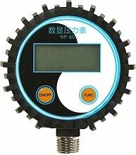Gazechimp Digital Manometer, NP-60 G1/4 Druckmesser z.B. für Druckminderer, Wasserfilter, Druckanzeiger, Druckanzeige - -15-0PSI