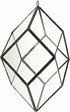 Gazechimp Glas Terrarium Miniatur-Gartenhaus Gewaechshaus Pflanzbehaelter - Farbe2, 10.3x10.3x20.5cm