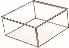 Gazechimp Glasterrarium Geometrisches Glas Schmuckschatulle Sukkulente Pflanzgefäß Haus Dekoration - L