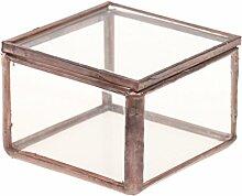 Gazechimp Glasterrarium Geometrisches Glas Schmuckschatulle Sukkulente Pflanzgefäß Haus Dekoration - S