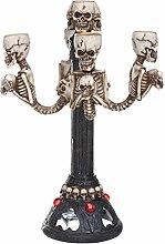 Gazechimp Gothic Kreativ Schädel Design Kerzenhalter Kerzen Ständer Leuchter Halloween Party Bar Ornamen