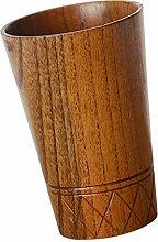 Gazechimp Holz Milch Bier Becher Holzbecher Tee Becher Kaffeetasse Getränk Cup - Braun, 7.8x11.5cm