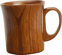 Gazechimp Holz Milch Bier Becher Holzbecher Tee Becher Kaffeetasse Getränk Cup - Braun, 9.2x10cm