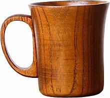Gazechimp Holz Milch Bier Becher Holzbecher Tee Becher Kaffeetasse Getränk Cup - Braun, 10x8.8cm