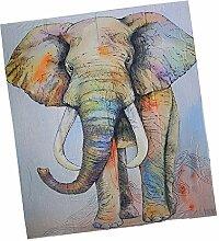 Gazechimp Indianische Elefant Tapisserie Wandteppich Wandbehang Strandtuch Dekoration 150 * 130cm Polyester Weich Komfortabel - #1