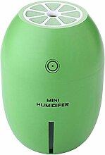 Gazechimp Kreativ Mini Zitrone USB 180ml Ultraschall Luftbefeuchter mit LED Licht Luftreiniger Diffusor Farbwahl - Grün
