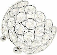 Gazechimp Kristall Kugel Votive Teelicht Kerze Leuchter Halter Kerzenständer Kerzenhalter Romantische Hochzeit Dekoration - Silber, 15cm