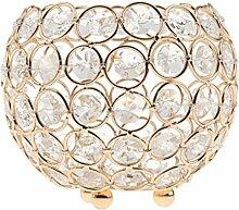 Gazechimp Kristall Kugel Votive Teelicht Kerze Leuchter Halter Kerzenständer Kerzenhalter Romantische Hochzeit Dekoration - Gold, 10cm