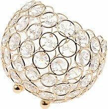 Gazechimp Kristall Kugel Votive Teelicht Kerze Leuchter Halter Kerzenständer Kerzenhalter Romantische Hochzeit Dekoration - Gold, 12cm