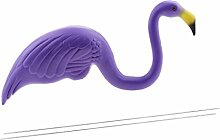 Gazechimp Kunststoff Flamingo Tierfigur Modell Dekofigur Gartendeko Ornament - Lila, 46x55cm