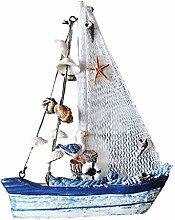 Gazechimp Maritime Fischnetz Segelboot Modell