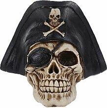 Gazechimp Menschlicher Piraten Schädel Figur Deko für Halloween