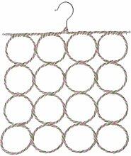 Gazechimp Metall Schal- und Tuchbügel für Gürtel Schals Tücher Aufhänger - 16 Schaufen