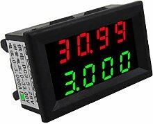 Gazechimp Mini Digital-Amperemeter / Voltmeter Dual LED Display Strom Spannung Tester - Grün