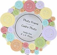 Gazechimp Mini Fotorahmen Rund Bilderrahmen für