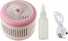 Gazechimp Mini Ventilator Handventilator 5V Luftbefeuchter USB Standventilator - Rosa