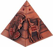 Gazechimp Miniatur Metall Statue Modell - Schreibtisch Dekoration - Gutes Geschenk für Freunde, Liebhaber und Familien - Ägyptische Pyramide