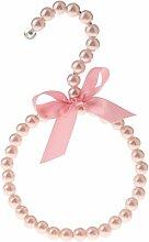 Gazechimp Perlen Gürtelbügel Krawattenring Tuchhalter Schalring aus Kunststoff und Metall - Rosa