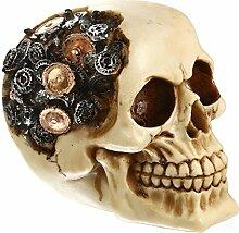 Gazechimp Schädel Skeleton Skull Totenkopf Modell Figur Gotisches Steampunk Dekoratives Fertigkeit Halloween Party Dekoration