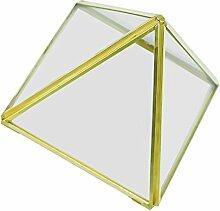 Gazechimp Unregelmäßige Glas mini Geometric Gartenhaus Glasterrarium Pflanzen Blumen Vase Box Terrarium Container - M