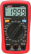 Gazechimp Ut33b + Premium Digital Multimeter Manuelle Multimeter mit 1999 Counts Spannungsmesser, Stromprüfer, Kapazität, Frequenz