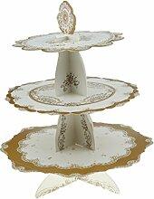 Gazechimp Vintage Cupcake / Muffin Ständer mit 3 Böden, Etagere 3 Stöckig