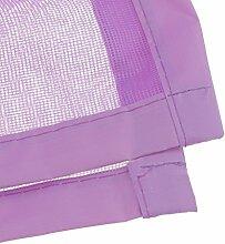 Gazechimp Vogelkäfig Design , Magnetische Fliegengitter Vorhang Insektenschutz Magnetvorhang Fliegeninsekten , 100x210cm - Lila, 100cmx210cm