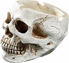 Gazechimp Weiß Menschlichen Totenschädel , Aschenbecher Behälter Bar Tisch Dekoration