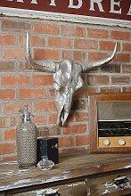 Gazelle Wanddekoration aus Aluminium Guss