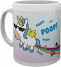 GB Auge Einhorn Regenbogen Poop Design Keramik Tasse Becher