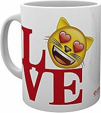 GB Eye Emoji-Love Becher, mehrfarbig