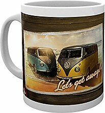 "GB Eye VW Camper ""Lets Get Away"" Becher,"