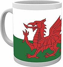 GB Eye Wales Flagge Becher, Mehrfarbig