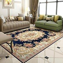 GBBD Teppiche Teppich-Couchtisch-Studie-rechteckiges Schlafzimmer-Nachttisch-Wohnzimmer-europäischer Teppich 120 × 180CM (Farbe : A)