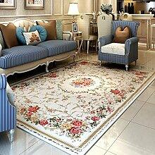 GBBD Teppiche Teppich Im Europäischen Stil Teppich Rechteckige Wohnzimmer Couchtisch Schlafzimmer Nachtwäsche Waschbar Maschine 100 * 150 cm (Farbe : C)