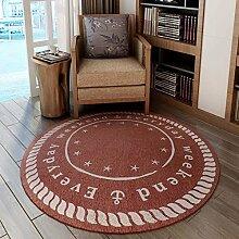 GBBD Teppiche Teppich Round Parlor Stuhl Studie Schreibtisch Computer Stuhl Kissen Schlafzimmer Nacht Treppe Teppich 120 cm (Farbe : A)