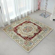 GBBD Teppiche Teppich Teppich Bettdecke Schlafzimmer Europäischen Stil Kronleuchter Computer Stühle Couchtisch Studie Wohnzimmer Platz 100 * 100 cm (Farbe : B)