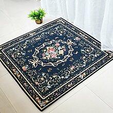 GBBD Teppiche Teppich Teppich Continental Stühle Kissen Computer Stühle Wohnzimmer Bettdecke Schlafzimmer Couchtisch Studie Platz 100 * 100 cm (Farbe : A)