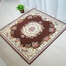 GBBD Teppiche Teppich Teppich Schlafzimmer Couchtisch Studie Im Europäischen Stil Stuhl Kissen Computer Stuhl Bett Decke Wohnzimmer Platz 100 * 100 cm (Farbe : A)