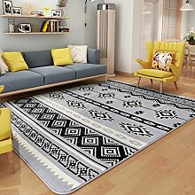 GBBD Teppiche Teppich Teppich Wohnzimmer Couchtisch Studie Rechteckigen Europäischen Stil Schlafzimmer Nacht Teppich Mode 130 * 190 cm (Farbe : A)