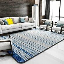 GBBD Teppiche Teppich-Wohnzimmer-Studie-Schlafzimmer-Stilvolle Europäische Art Rechteckige Nachttisch-Decke 130 * 190CM (Farbe : A)