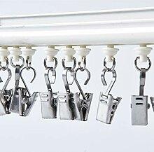 GBIS 100 Stück Metallhaken Clips zum Aufhängen