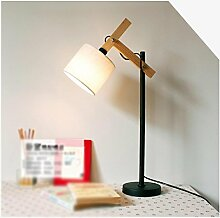 GBT Moderne Tischlampe Einfache europäischen Nachttisch Schreibtisch Schreibtisch Lampe Retro Holz Lampe? LED Lichter, warm, Licht, Weißes Licht, Kronleuchter, innen-Lichter, Leuchten, Wand-?