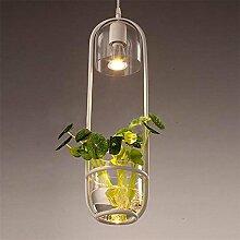 GBT Pastoral Stil Restaurant Cafe Nachttisch Glas Pflanze Kronleuchter? LED Lichter, warm, Licht, Weißes Licht, Kronleuchter, innen-Lichter, Leuchten, Wand-?
