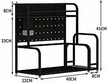 GBY Mikrowellen-Regal Küchenregal, Edelstahlboden