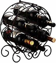 GBY Weinregal, Schmiedeeisen, für Flaschen und