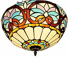 GBYN Stilvolle Tiffany-Glaslampe,