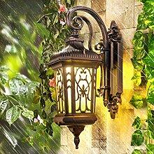 GBYZHMH Retro outdoor Wandleuchte Europäischen wasserdicht Aussenleuchte kreative Garten Lampe Balkon Treppen Wandleuchte (Farbe: gelb)