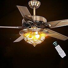 GBYZHMH Wohnzimmer Deckenventilator Licht